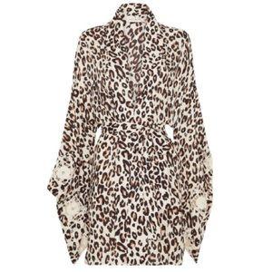 Bodhi Leopard Short Robe